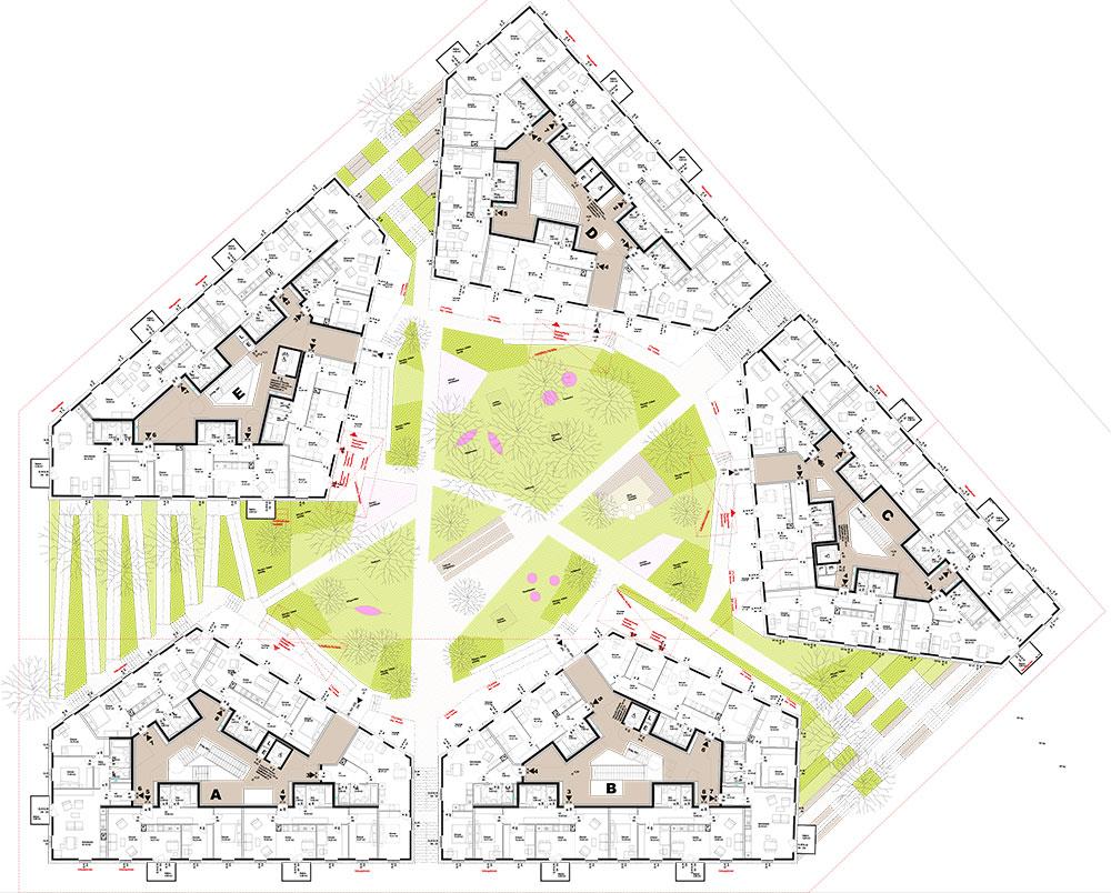 Grundriss 1. Obergeschoss, Haus im Leben Haus im Leben Wien - Aspern, Architektur: ARGE Delta Ziviltechniker GmbH & AllesWirdGut ZT GmbH