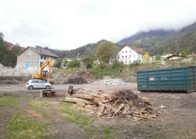 Abtragung des alten Bauernhauses